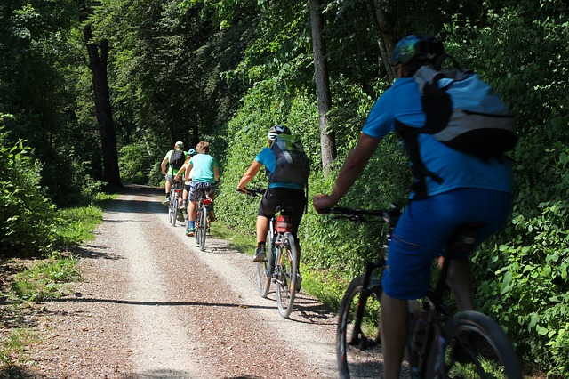 Free leisure holiday sport cyclists wheel drive tour