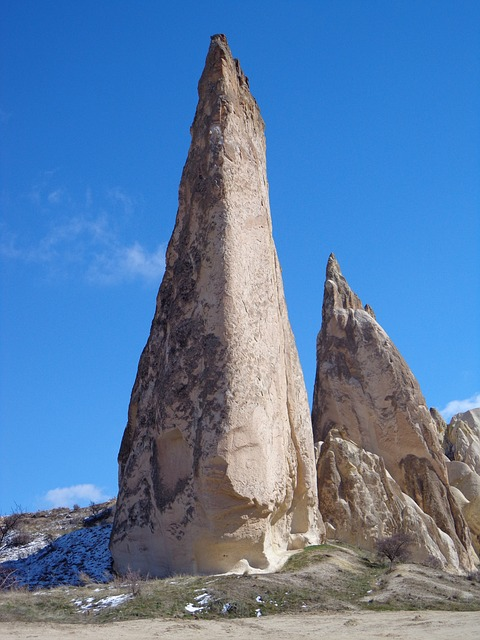 Free rock cappadocia rocky towers turkey tufa
