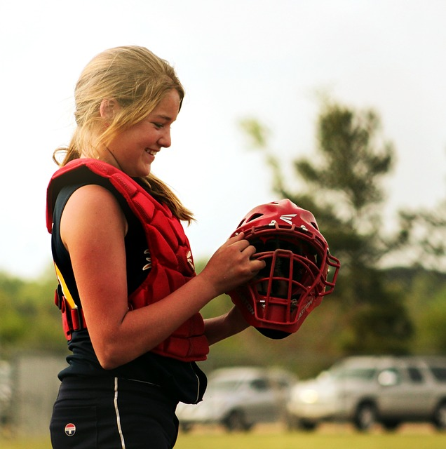 Free softball catcher sport player catch athlete