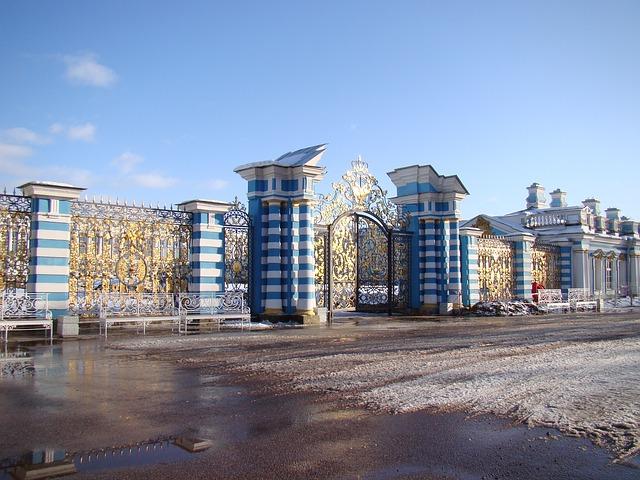 Free the palace ensemble tsarskoe selo russia fence gate