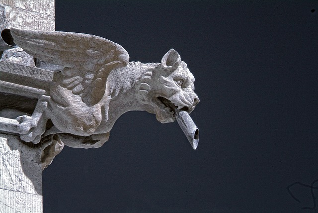 Free gargoyle carved stone grotesque carving gothic