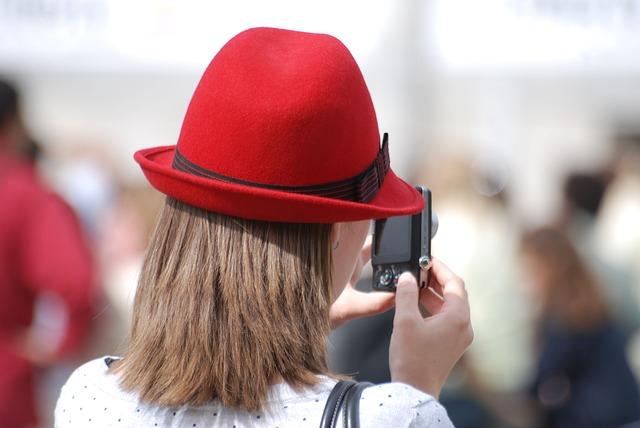 Free hat red woman fashion design camera