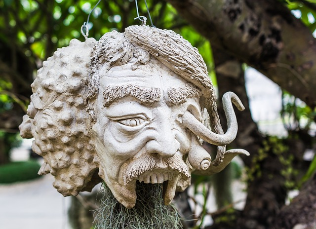 Free Photos: Face head mask sculpture stone figure zombie | Josch13