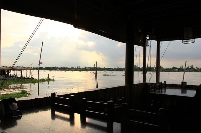Free Photos: Waterfront seaside pier sunset bangkok outdoors | Jirayu L