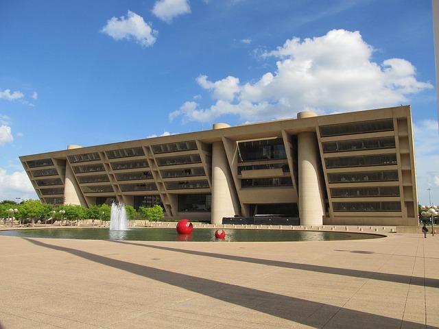 Free dallas city hall building texas modern