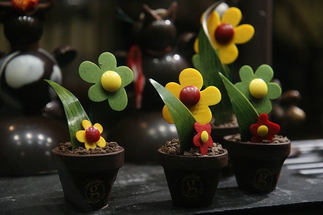 Free flower sweet delicious style pot chocolate