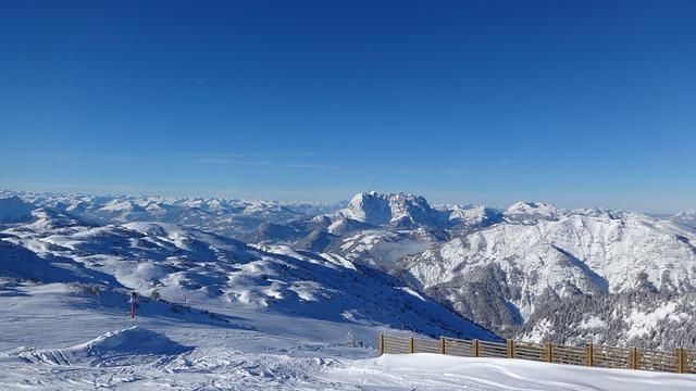 Free alpine austria winter panorama steinplatte