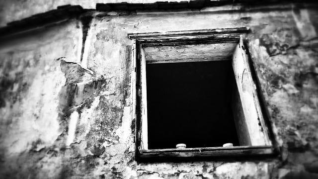 Free window old rural wooden window frame building