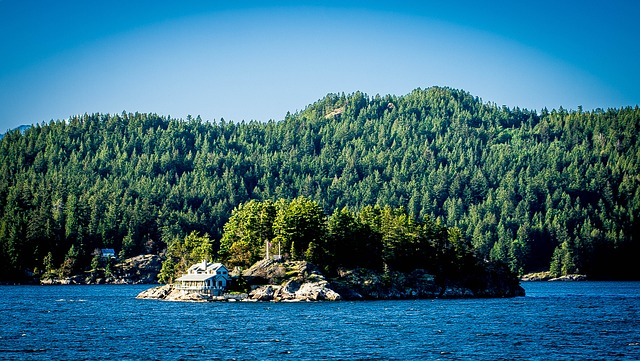 Free vancouver canada island house trees nature home