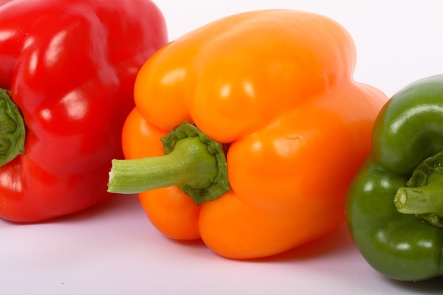 Free Photos: Vegetable red sweet pepper green yellow paprika | Sergey Nemo