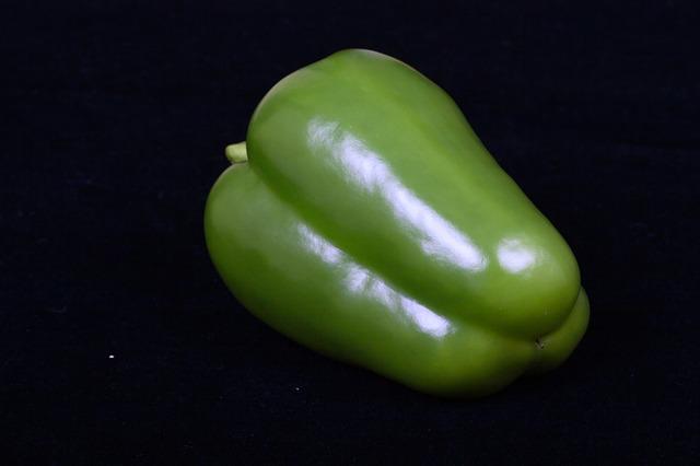 Free green sweet pepper vegetable
