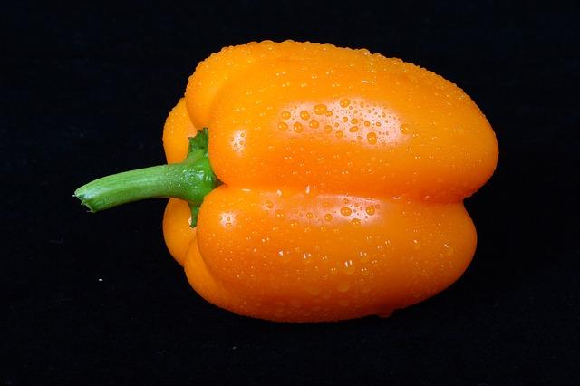 Free yellow sweet pepper vegetable
