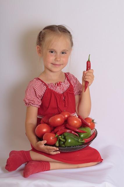 Free girl child vegetables smile agriculture natural
