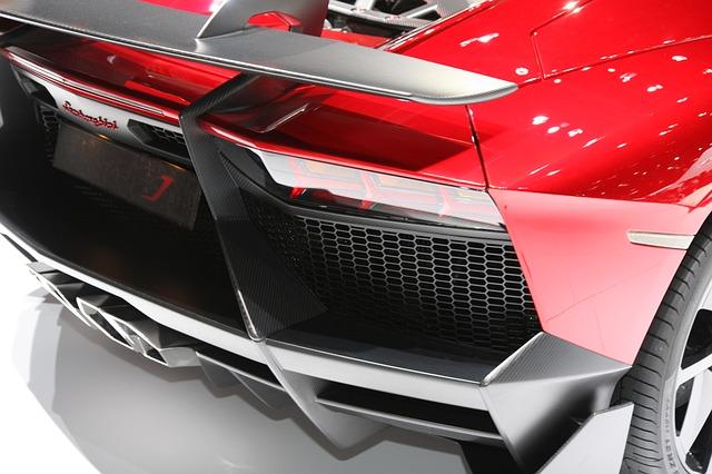Free lamborghini red car auto vehicle automobile