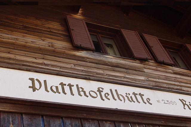 Free shield alpine south tyrol italy hut mountain hut