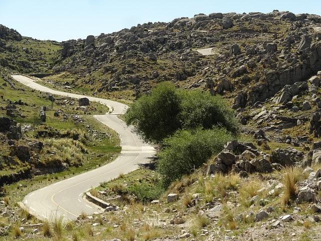 Free road asphalt hills argentina transport route