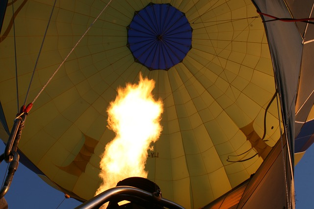 Free flame fire balloon ballooning flight