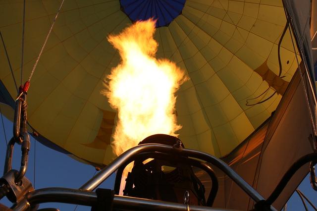 Free flame fire balloon