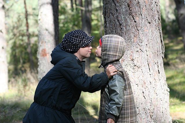 Free girls children kiss happiness childhood