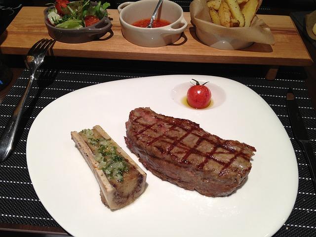Free steak restaurant meat delicious closeup