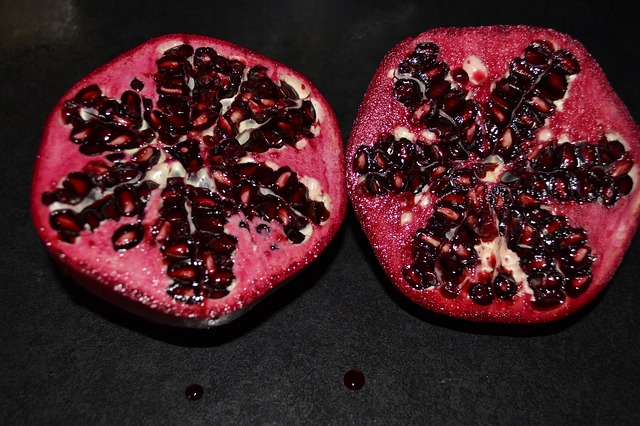 Free pomegranate red fresh fruit food healthy sweet