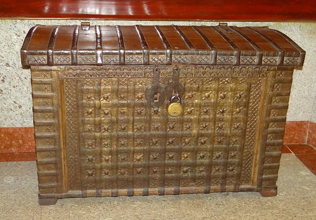 Free chest wooden antique wood box treasure vintage