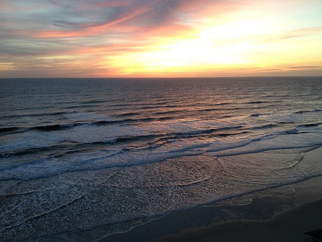 Free beach sunrise clouds ocean sea sunset nature