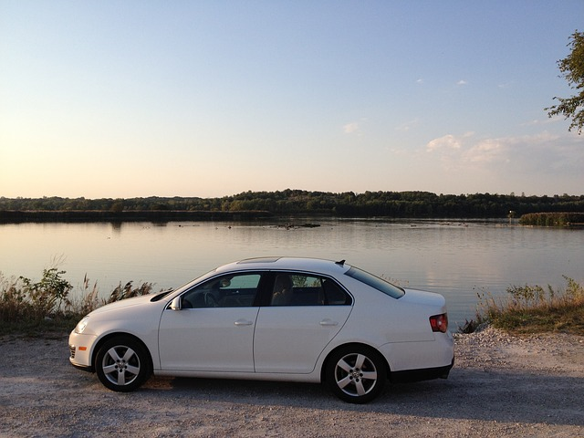 Free car river sunset volkswagen jetta auto automobile