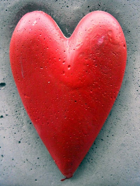 Free red beautiful stone heart