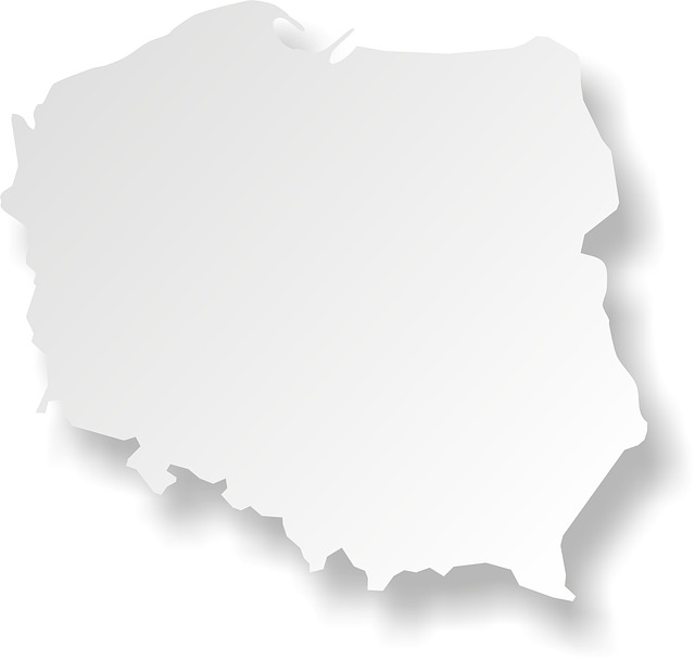 Free poland map maps the outline of the outline country