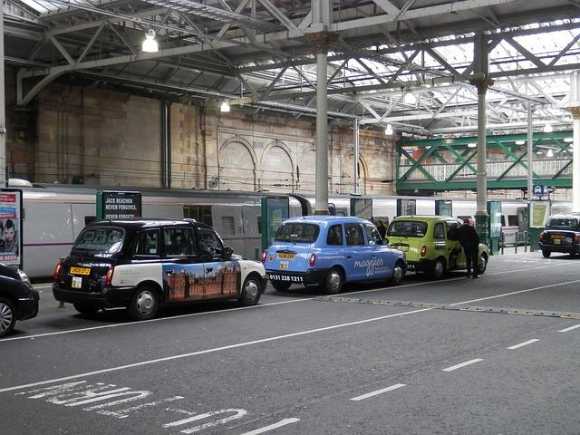 Free taxi station edinburgh scotland
