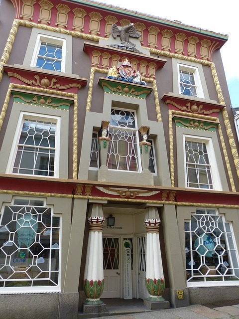 Free home facade egyptian window building architecture