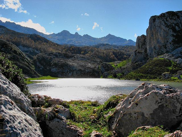 Free lake landscape water nature spain