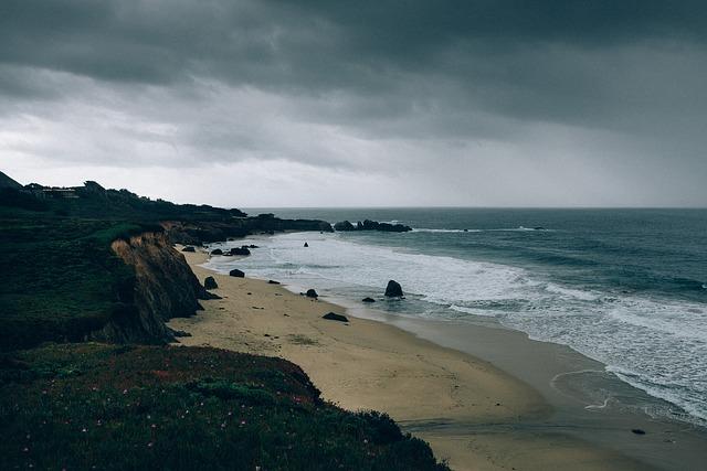Free beach shore coast grunge dark water sand holiday