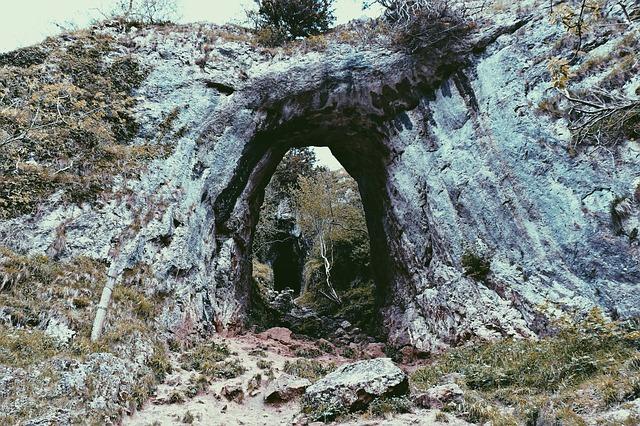 Free natural bridge hole cave cavern rock arch nature