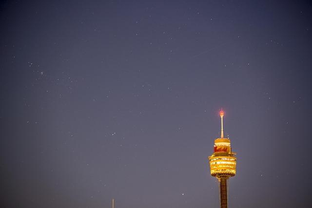 Free sydney australia centrepoint tower stars dawn