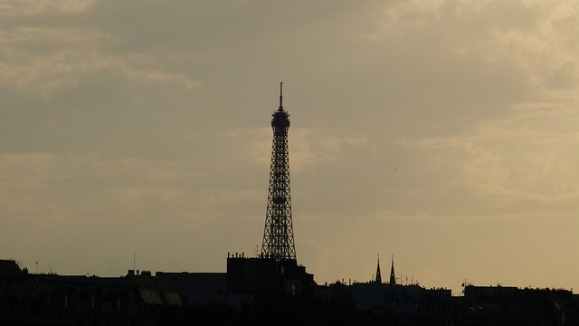 Free france paris eiffel tower steel structure tower