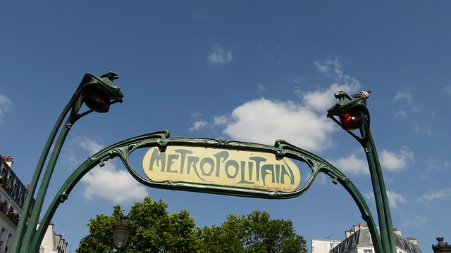 Free france paris metro metro entrance shield