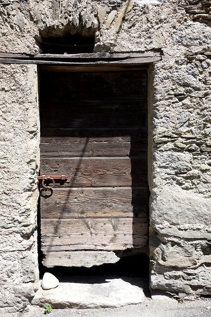 Free shabby door wooden door ruined door goal