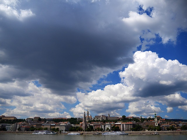Free budapest panorama clouds above the danube