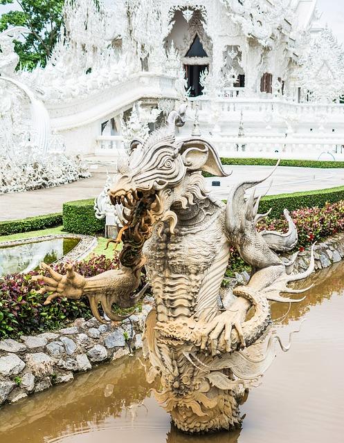 Free white temple chiang rai thailand