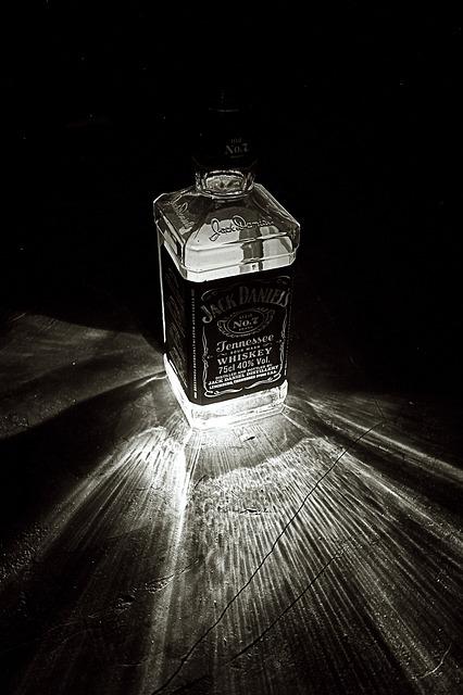 Free bottle light black white jack daniel's