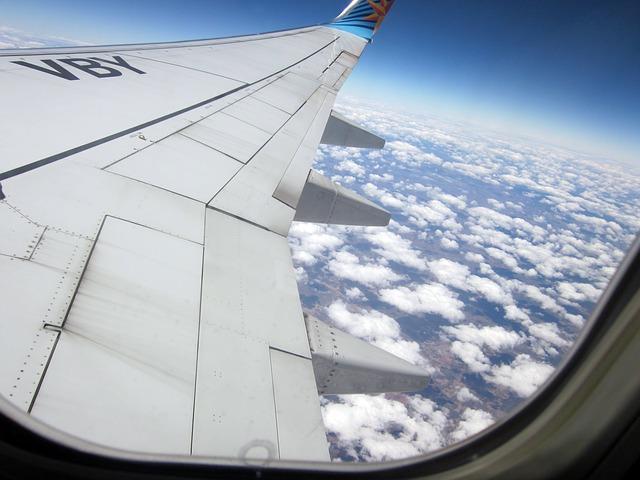 Free cloud plane sky trip blue