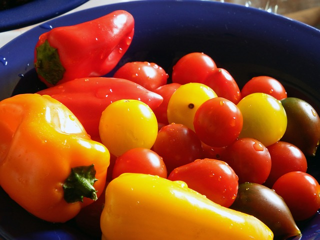Free paprika tomatoes red green colorful food