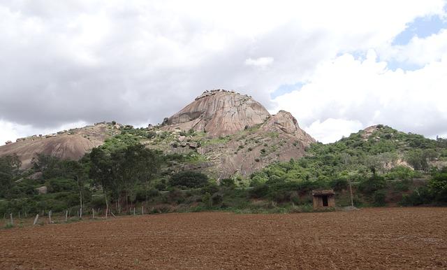 Free hillock rock granite deccan plateau karnataka