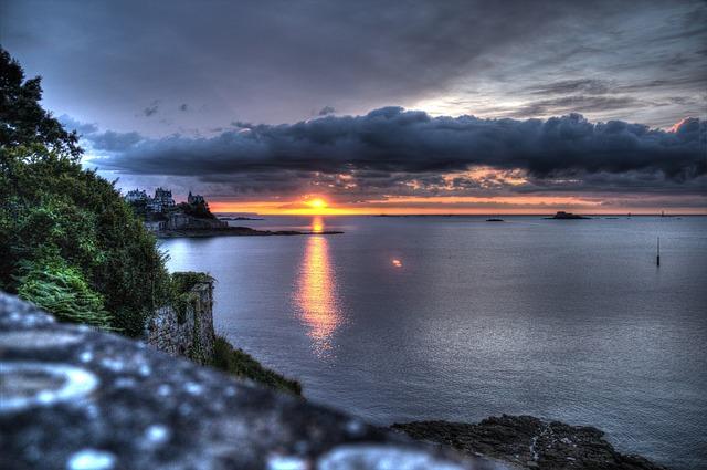 Free brittany sunset abendstimmung