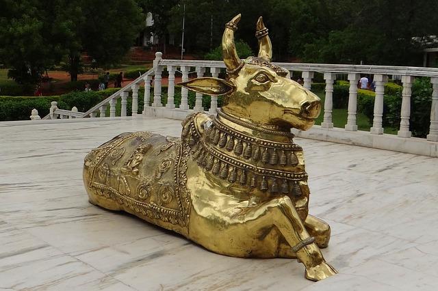 Free Photos: Bull brasswork nandi celestial carrier temple   Bishnu Sarangi