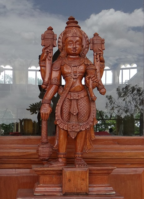 Free sculpture wooden god religion hinduism india