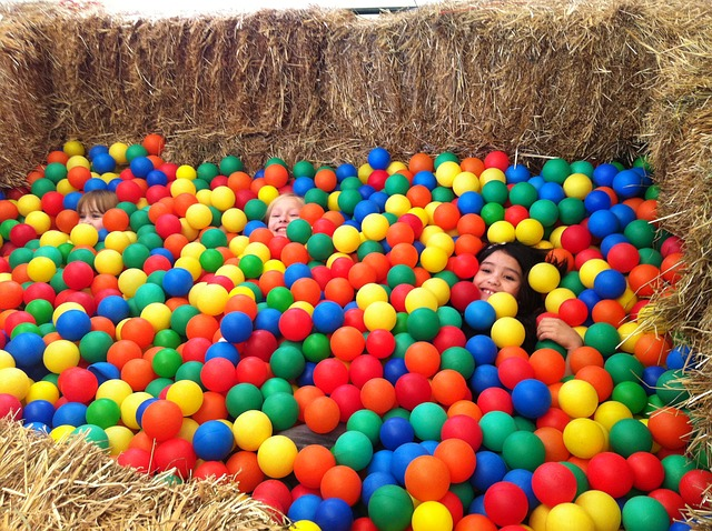 Free balls colorful fun kids happy happiness young