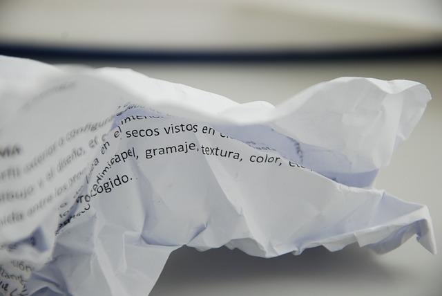 Free paper wrinkled white